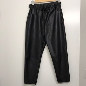 Zara faux leather black pants
